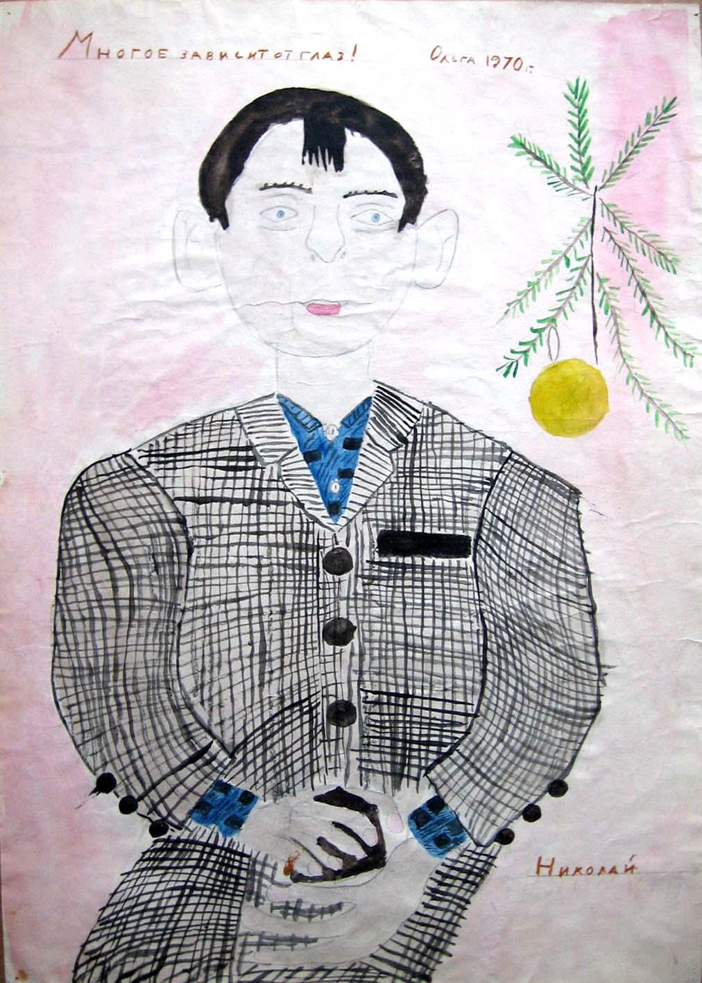 бумага/акварель, 60х40, 1970
