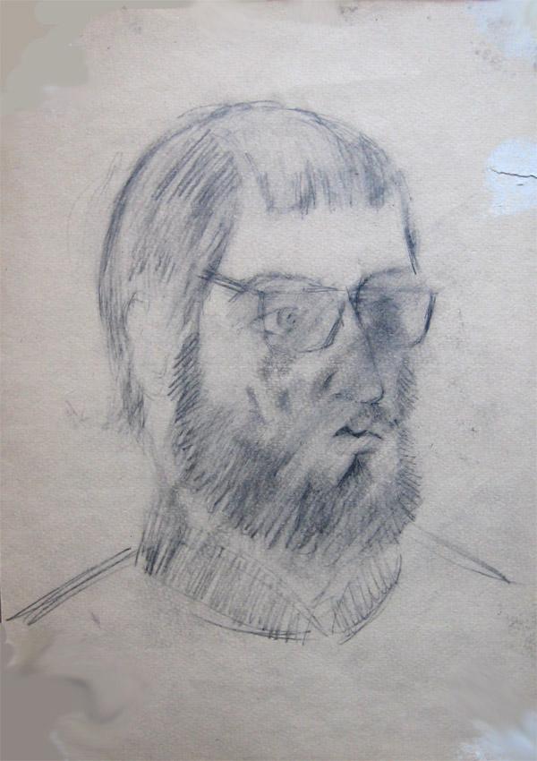 цв.бумага/карандаш, 40х30, 1978